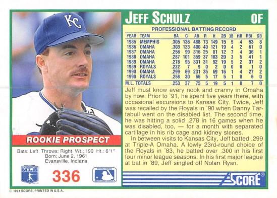 Jeff Schulz Rookie Card