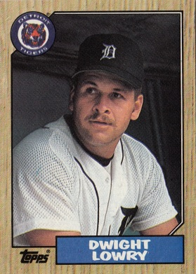 RC Tigers 1987 Topps Dwight Lowry F