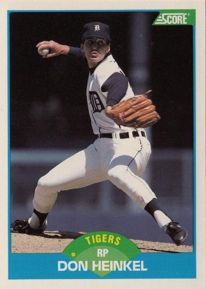 RC Tigers 1989 Score Don Heinkel F