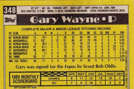 RC Twins 1990 Topps Gary Wayne B