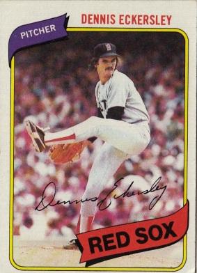 Dennis Eckersley Red Sox Baseball Card