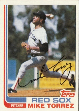 Red Sox 1982 Topps Mike Torres F