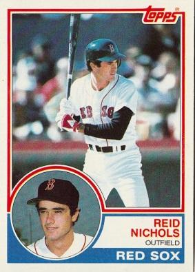Red Sox 1983 Topps Reid Nichols F