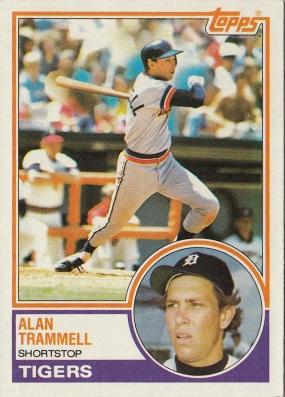 Tigers 1983 Topps Alan Trammell F