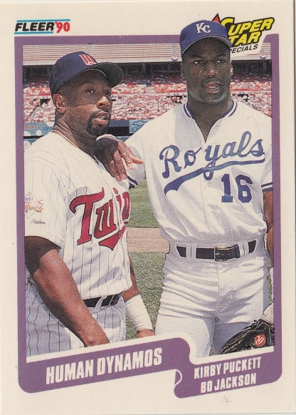 Twins 1990 Fleer Kirby Puckett HUMAN DYNAMO F