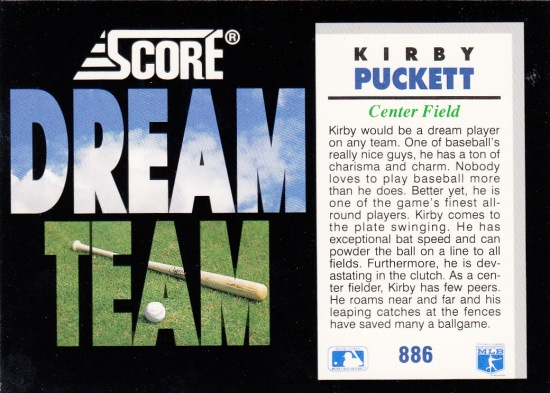 Twins Score Kirby Puckett Dream Team B