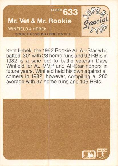 1983 Fleer Winfield & Hrbek