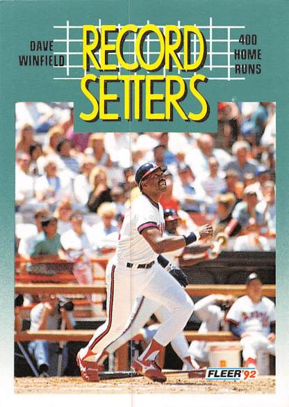 Dave Winfield 1992 Fleer Record Setters