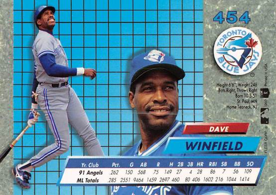 Dave Winfield 1992 Fleer Ultra