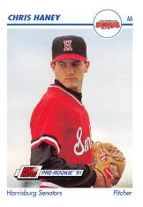 Chris Haney Minor League Card