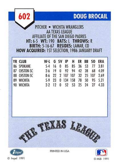 Doug Brocail Minor League Card