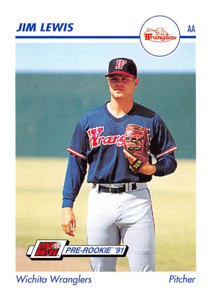 Jim Lewis Minor League Card