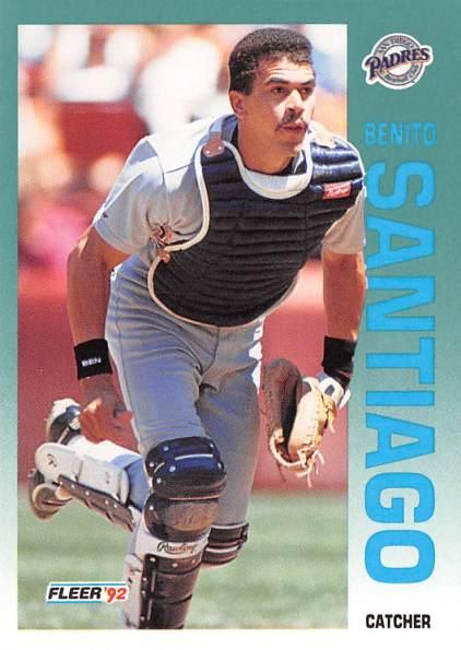 Benito Santiago 1992 Fleer