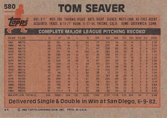 Tom Seaver baseball card