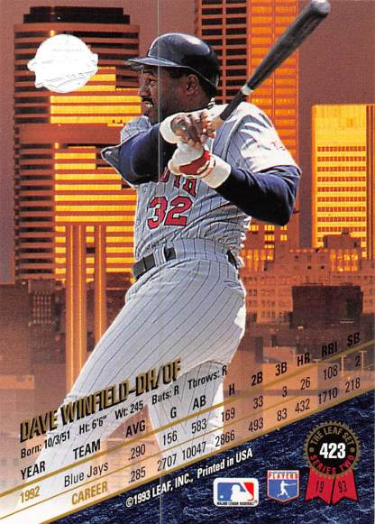 Dave Winfield 1993 Leaf
